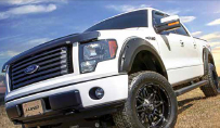 RT Truck & Accessories - White truck with exterior accessories