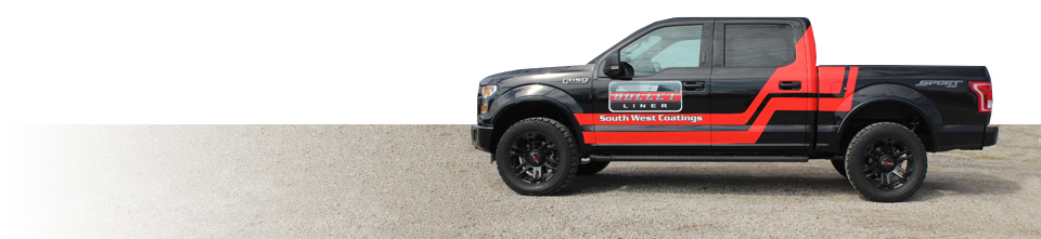 South West Coatings Company Vehicle with Logo and Graphics